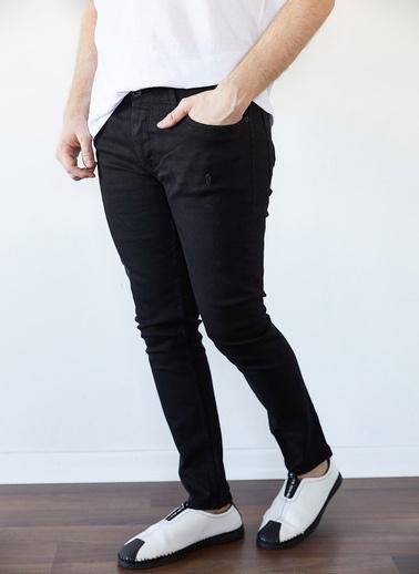 XHAN Yıkamalı Mavi Slim Fit Jean Pantolon 1Kxe5-44256-49 Siyah